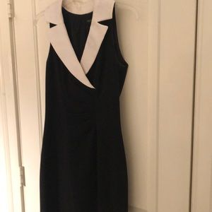 WHBM collared black dress size 2